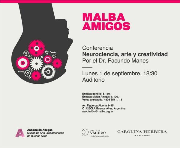 adnCULTURA (@adnCULTURA): El lunes a las 18.30, #Neurociencia, #arte y #creatividad x @ManesF en @museomalba #agendacultural http://t.co/068Wz1Naca
