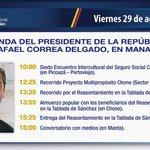 Compartimos la agenda que cumplirá mañana el presidente @MashiRafael en #Manabí http://t.co/pKMlcVFh1v