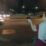 Comenzó el cacerolazo en la plaza Altamira.. NO a la capta huella http://t.co/mEEZZMBbCG