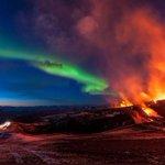 RT @VoceNaoSabiaQ: Aurora boreal e Vulcão em erupção vistos na Islândia - http://t.co/MDY9kL1DnF