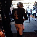 RT @RAIDERS: QB @derekcarrqb takes the field for pre-game warm-ups. #JustWinBaby http://t.co/W4YYCIEdfq