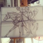 RT @CRSairbrush: Last steps..GALLERY 37 #cyprus #art #horses #canvas #drawing #gallery #pencil http://t.co/hdluY2pkjC