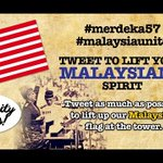 RT @movingwalls: @bruno_desmond This Merdeka, show your country that unity is there by tweeting #merdeka57 and #malaysiaunite http://t.co/WmDxkqccWv