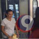 RT @gergcahiles: @sengracepoe took the MRT this morning in prep for Mondays Senate hearing on the MRT mishap. @9newsph http://t.co/dbr63bklgq
