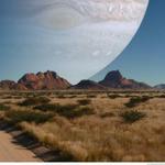 RT @VoceNaoSabiaQ: Essa é a visão que teríamos se Júpiter estivesse no lugar da Lua - http://t.co/oLAf2PeVqq