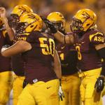 RT @SportsCenter: Its over in Tempe! No. 19 ASU blows out Weber State, 45-14. DJ Foster rushes for career-high 147 yards & 3 TD. http://t.co/5iL7UDbRGC