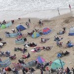 Grab your place on the beach for todays displays-but bring a brolly just in case! #bmthairfest http://t.co/jrpfRQKKju