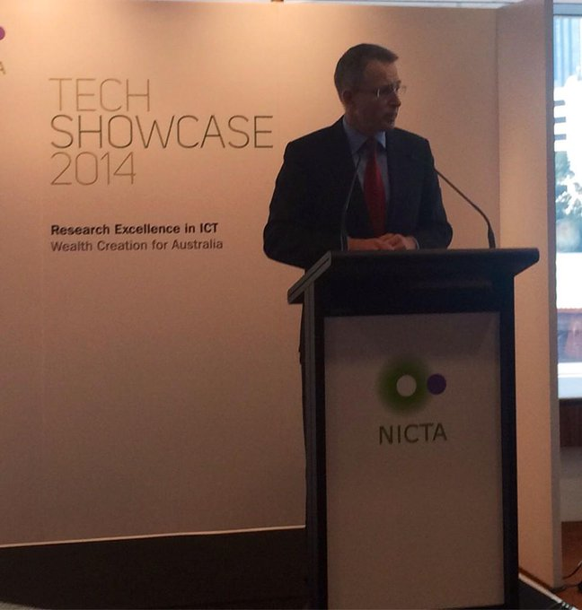 Speaking at the NICTA 2014 Tech Showcase in Melbourne #commsau http://t.co/tOOt3xAogL