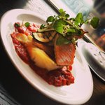 Heres our Salmon dish, a delicious lunch or dinner not to mention rather pretty #westbridgford #nottingham #healthy http://t.co/8q40DLoC0Q