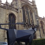 Were based right by the Cathedral. No bull. Heres a bull. (Excited for the @crucible2sculp OPENING SOON!) http://t.co/VPN61F3bse
