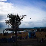Sea Vixen out early over Bournemouth pier #bmthairfest http://t.co/o4ESOkSm80