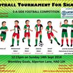 Football Tournament for Shaam WITH BBQ. 100% of all proceeds going to Gaza & Syria via UWT. BOOK UR PLACE! http://t.co/Y24TeSfM3z