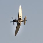 This picture of @r0bflemings of the Spitfire at Night Air is just beautiful @RAFBBMF #bmthair #bmthairfest http://t.co/SWsdcRyrXh