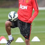 PIC: Angel Di Maria in action at the Aon Training Complex this afternoon. #mufc http://t.co/cWRQnWsx72