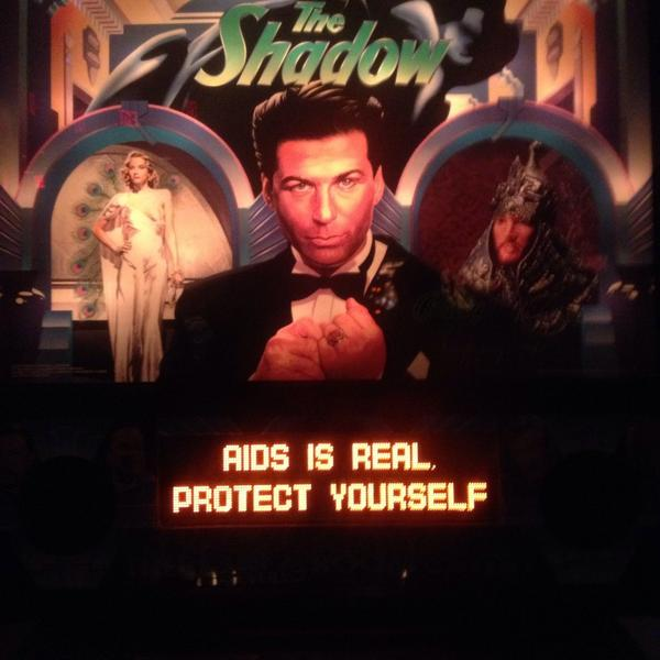 """An important message from """"The Shadow"""" pinball machine. http://t.co/PYdbJas8od"""
