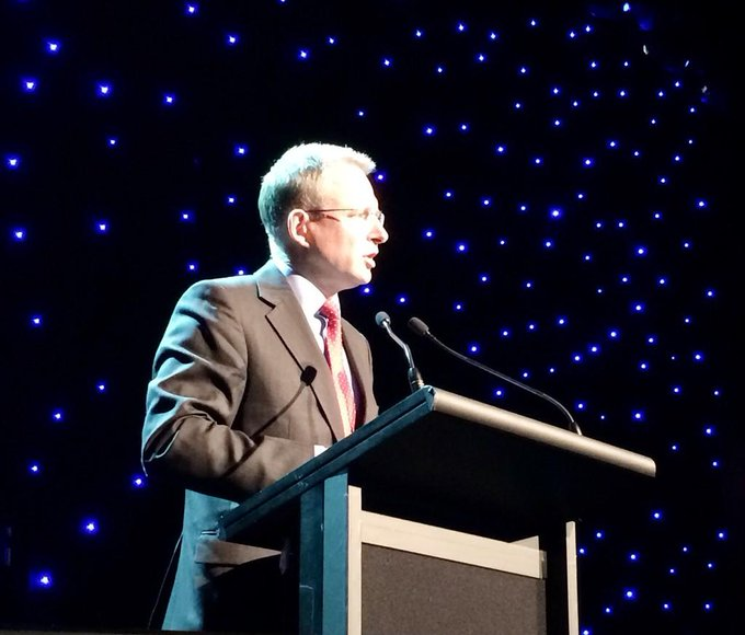 Speaking at the #iawards in Melbourne - about importance of ICT sector & work done by people in the sector #commsau http://t.co/6F4K7YXdIA