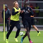 RT @JustLFC_: Lucas and Balotelli in training today. http://t.co/AyZE5TVpzG