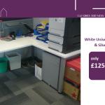 **SUMMER SIZZLER!** White Rec Desk w/ Pedestal - ONLY £125! #officefurniture #chester #manchester #london #essextweet http://t.co/gOj4xvHvAg