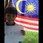 Anak Malaysia! Salam #Merdeka57 adik Imran Naufal dari Taman Melawati, KL http://t.co/yLpJmpuGbX
