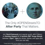 Open Streets on Sunday. Open Streets After Party on Sunday with David and @johncatucci... Register now! http://t.co/ethhDPpRva