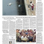 Hurricane Katrina struck the Gulf Coast nine years ago today. This was the NYT front page four days after landfall: http://t.co/99TYGJPpZZ