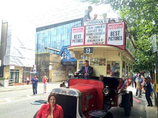 RT @se1: Restored B type WWI-era London bus causing a stir in Blackfriars Road http://t.co/jK9F7P0xC9