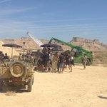 """Rondando """"Anacleto, agente secreto"""", del director Javier Ruiz Caldera, en Bardenas de Navarra. http://t.co/LH55wUJY0G Vía @NavarraFilm"""