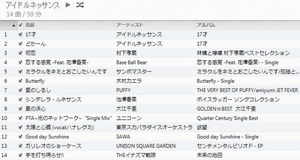 アイドルネッサンスのカバー曲一覧です。ご確認ください。 http://t.co/dckGCAJRDP
