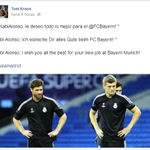 """Toni Kroos: """"Xabi Alonso, te deseo todo lo mejor en el Bayern"""". http://t.co/Q7FyoUkHzL"""""""