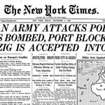 75 years ago today, The Times reported Germany's invasion of Poland—the start of World War II. http://t.co/Y9oeTiqJcT http://t.co/p4DaQ2KIIo