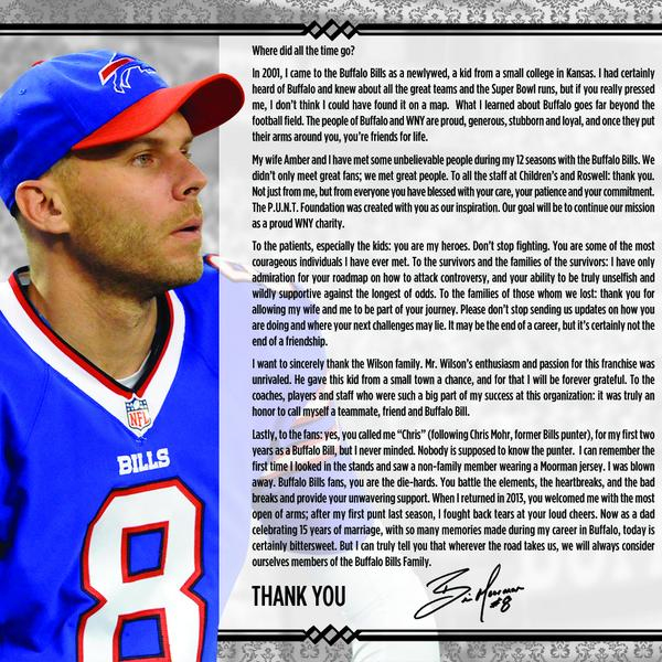 """@buffalobills: Brian Moorman's open letter to #Buffalo upon being released: http://t.co/TkBiEGaTtJ"""