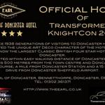 Going to @Knightconuk? The biggest MOVIE car event? It hits #DONCASTER on Sep 6th! Book your room now! #JoinTheEarl http://t.co/yOvTwW6DNK
