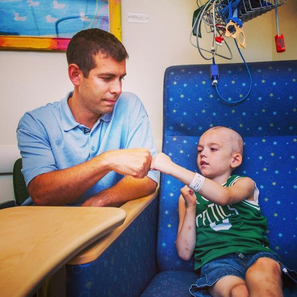 Photo of the week: @Celtics coach Brad Stevens stopped by to visit patients at Dana-Farber's Jimmy Fund Clinic. http://t.co/rFfcLa1VnC