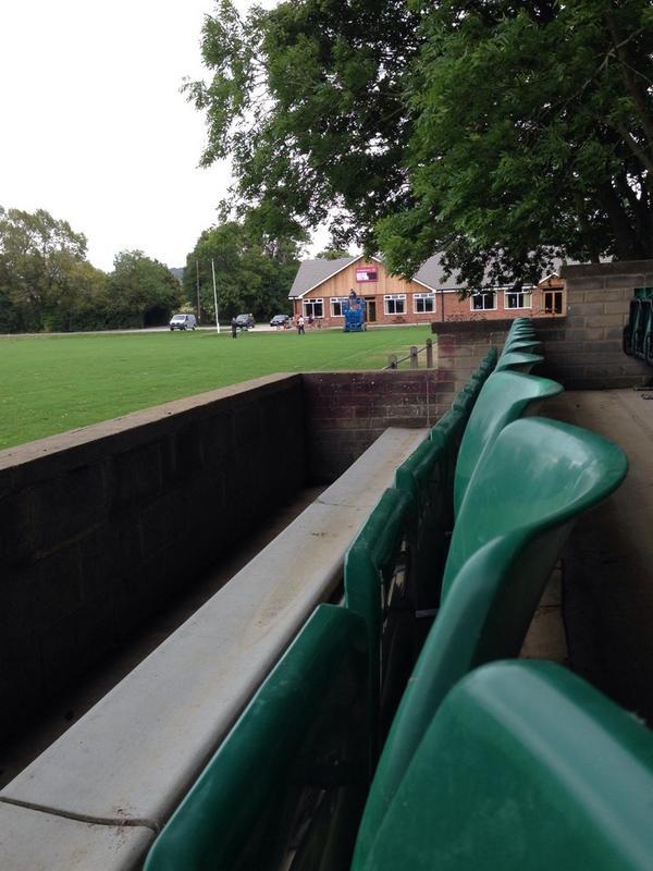 Photo of our new scoreboard at @AylesburyRFC taken from the seats we got from Twickenham stadium. Progress! :0) http://t.co/rxziNgvu8v