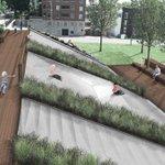 Sneak peak: Embankment slide we designed for the Scarritt Renaissance Neighborhood - construction this fall. #KC http://t.co/C7ct67Qoq3