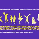 RT @oliviachow: I started after-school programs for kids when I was on council. Ill expand them as mayor. #TOpoli http://t.co/TMiZoKqlPf