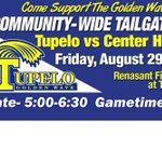 RT @TupeloHigh: Should be a fun evening. Show up early, eat with good folks, see Renasant Fields dedication, and watch a great game! http://t.co/5WDzsCV8tg