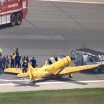 UPDATED: Landing gear collapses on air show plane at Pearson http://t.co/SZICxDIRXq http://t.co/qv1vu4wfhd