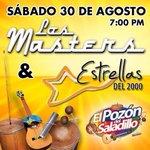 Mañana 30 de #Agosto te pondremos a bailar con @LosMastersOf y @EstrellasDL2000 #EnVivo #Maracaibo #Sábado ;) http://t.co/C8eIhZFK81