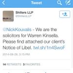 RT @NatalieCTV: Kinsella v. Kouvalis: Olivia Chow war room boss serves John Tory advisor with notice of libel...over twitter. #TOpoli http://t.co/gNjeyQM8I7