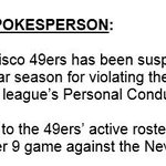 49ers Aldon Smith suspended 9 games. Full NFL statement here: http://t.co/cvZfABog45