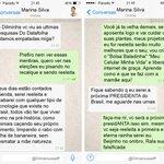 RT @DilmaRousselff Conversando no Whatsapp com Marina Silva http://t.co/k2nf488wwz