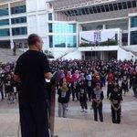 President @MohdShukriYajid addressing participants of #MSUrun4GAZA #prayforgaza http://t.co/tTk3BmqaFZ