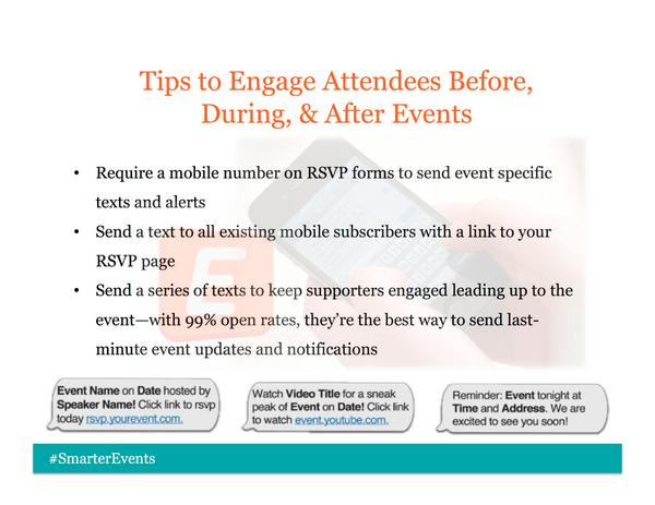 Tips: How to Engage Event Attendees Through Text Message http://t.co/JdsHWSAP0C #eventprofs #meetingprofs