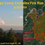 RT @NWSMedford: Happy Camp Complex in northern CA nearly doubled in size Thursday. #orwx #cawx #wildfire #pyrocumulus http://t.co/JQyODfpL9L