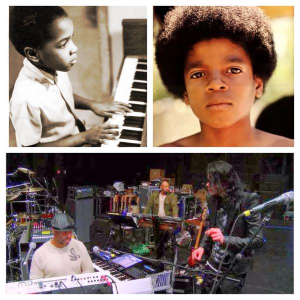 Top L, me age 5. Top R, Michael Jackson around age 10. Bottom,both! Happy Birthday my friend! You are missed! M~ #MJ http://t.co/qhdV17AQJG