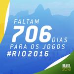 #BomDia Hoje é sábado, 30 de agosto. Faltam 706 dias para os Jogos #Rio2016! http://t.co/LK02gic5QV