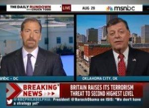 Republican Congressman: Obama Is 'Commendably Cautious' On Syria.   Look at the disappointment in #ChuckTodds face. http://t.co/0ReV1cVROW