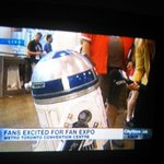 @CityNatalie wow youre interviewing R2-D2, good one #FanExpo #Starwars http://t.co/g9AXfUV12M