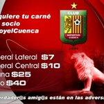El @DCuencaOficial invita a la hinchada a llenar el estadio ASA el domingo adquiriendo la tarjeta de socio especial http://t.co/TSxG4DSBR2
